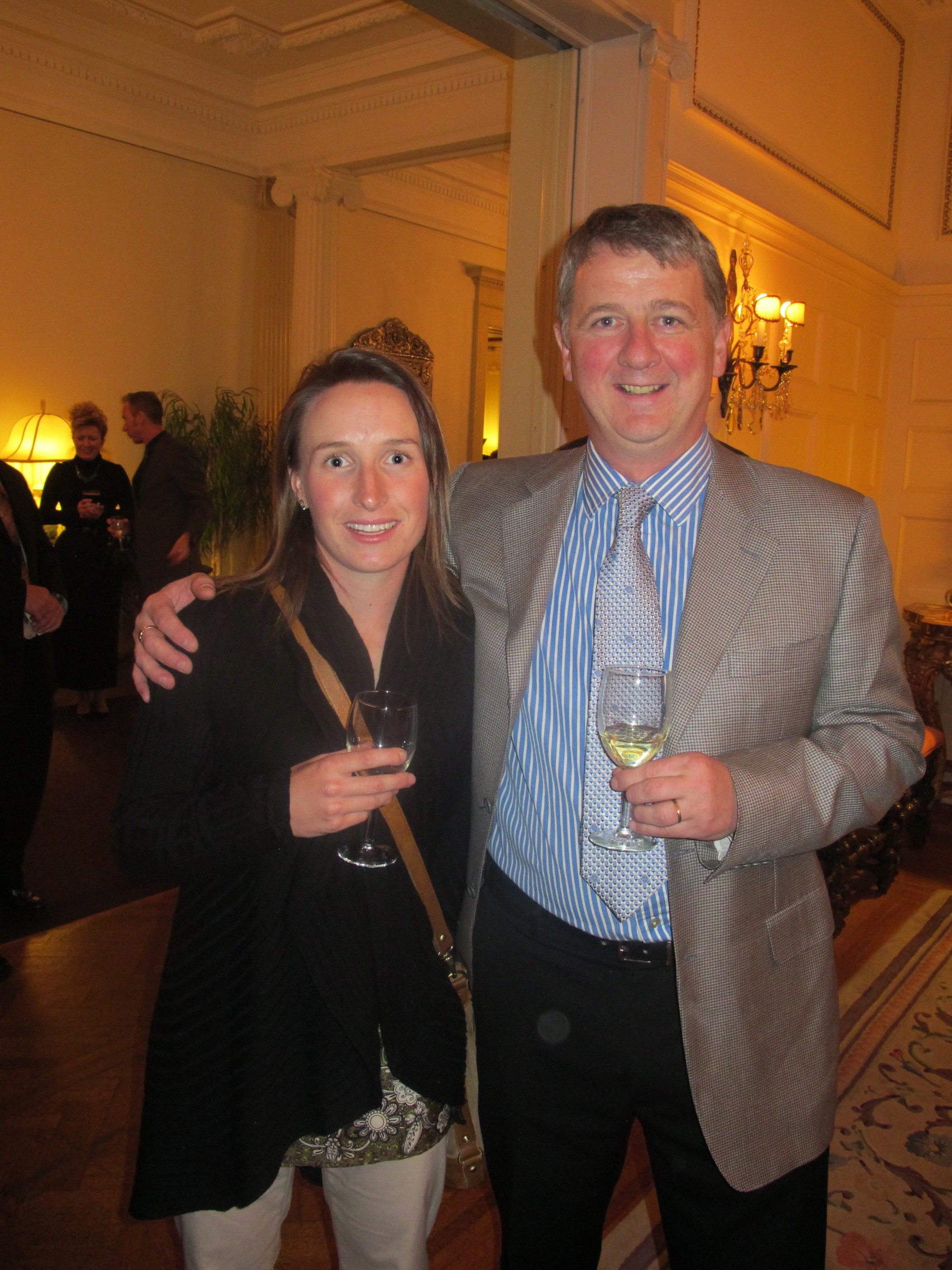 Sarah was invited to the Colorado Governor's Residence in November to meet Ireland's Ambassador Michael Collins, and also met some other Colorado Irish including fellow Galway native Noel Hickey (owner Celtic Tavern, Denver).