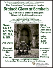 'Stained Glass at Samhain' Play will to make U.S. Premiere in Denver!