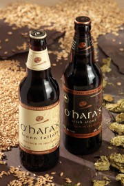 OH O'Hara's Stouts - Irish Stout and Leann Foll+íin 50cl bottles on slate