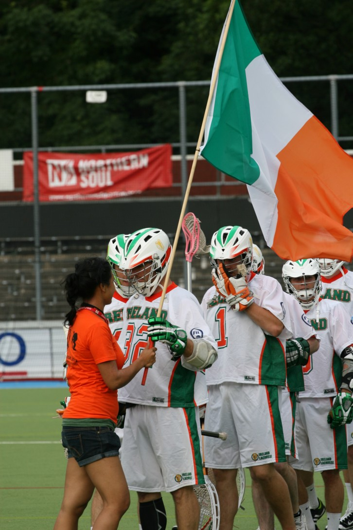 Ireland Lacrosse girl flag