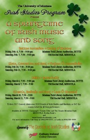 Montana 2015 springtime music events