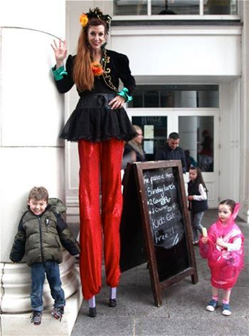 Jennifer Dempsey with Belfast friends